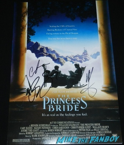 robin wright signed princess bride mini poster  signing autographs Netflix Women Ruling TV Q And A   34