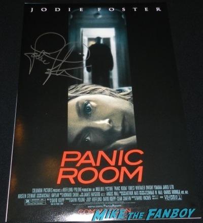jodie foster signed panic room mini poster autograph