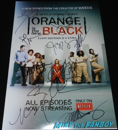orange is the new black mini poster signed autograph kate mulgrew