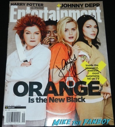 orange is the new black signed entertainment weekly magazine