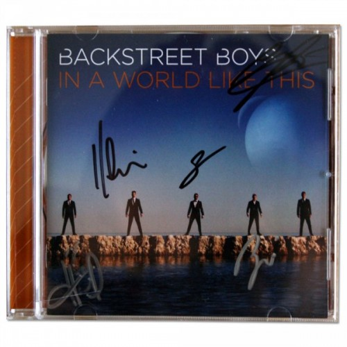 backstreet boys signed autograph cd