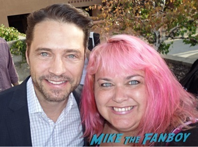 meeting jason priestly selfie book signing autograph signed     2