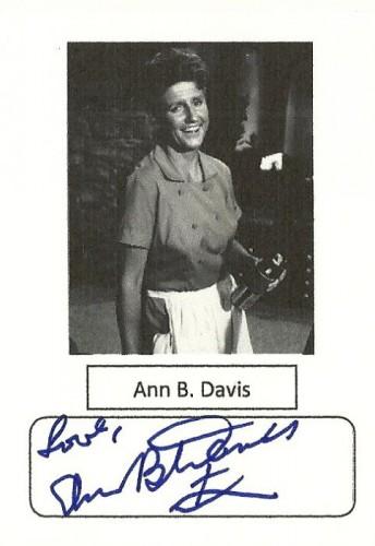 ann b. davis signed autograph photo rare rip