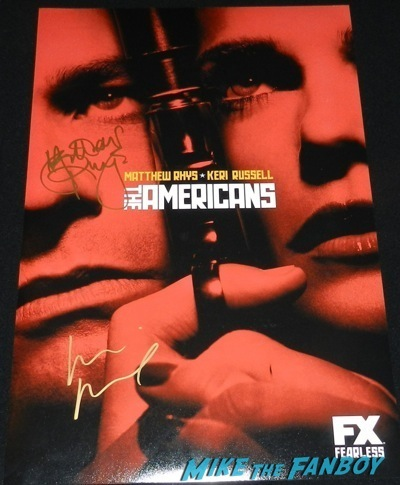 the Americans signed autograph season 2 poster keri russell