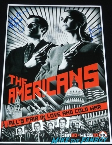 the americans season 1 press kit poster signed autograph