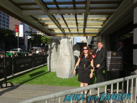 Alicia headed through the stones to the Tartan Carpet