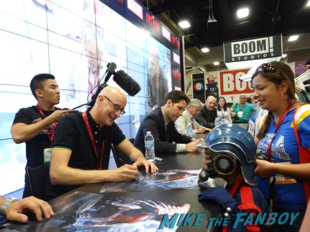 Ant-Man cast signing: Peyton Reed (Director), Paul Rudd, Michael Douglas and Corey Stoll