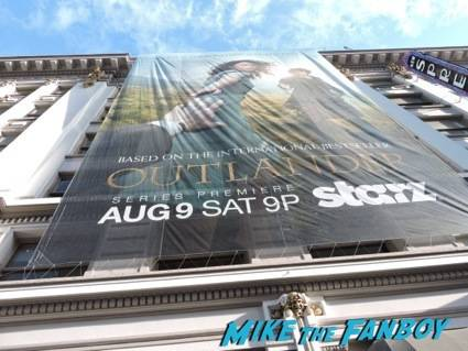 A big Outlander Starz banner watches over us.  I feel it brings good luck!
