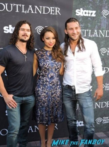 "Luke Arnold, Jessica Parker Kennedy and Zach McGowan from Starz ""Black Sails"""