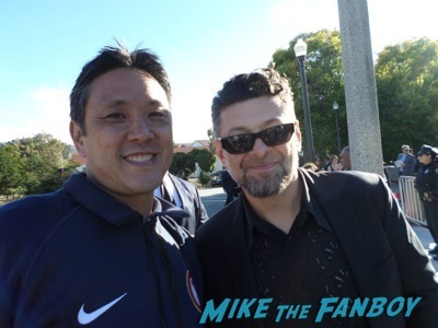 andy serkis fan photo selfie rare promo dawn of the planet of the apes movie premiere