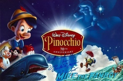 Dickie jones pinocchio signed autograph photo rare  3