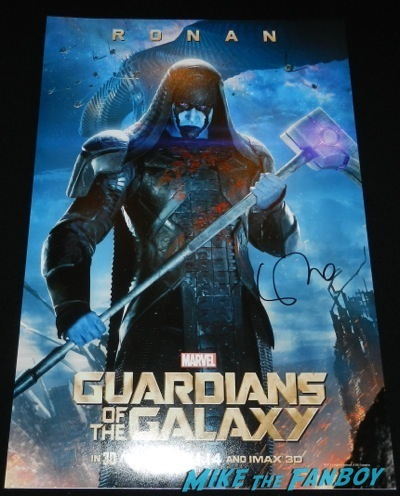lee pace signed guardians of the galaxy roden character poster  Guardians of the Galaxy hollywood premiere red carpet   38