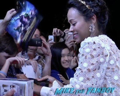 Guardians of the galaxy singapore fan event zoe saldana dave Bautista signing autographs    13
