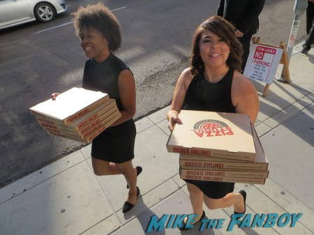 Best dressed pizza delivery people ever -- courtesy of Starz