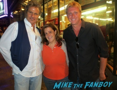 Martin Kove Billy Zabka fan photo selfie now 2014 rare promo hot