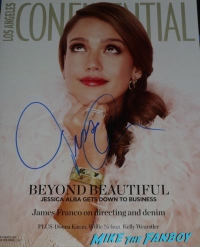 Jessica Alba Signing autographs jimmy kimmel live 2014 hot sexy rare   3