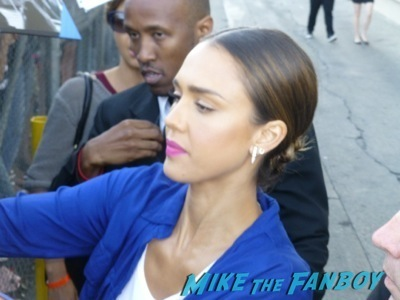 Jessica Alba Signing autographs jimmy kimmel live 2014 hot sexy rare 3
