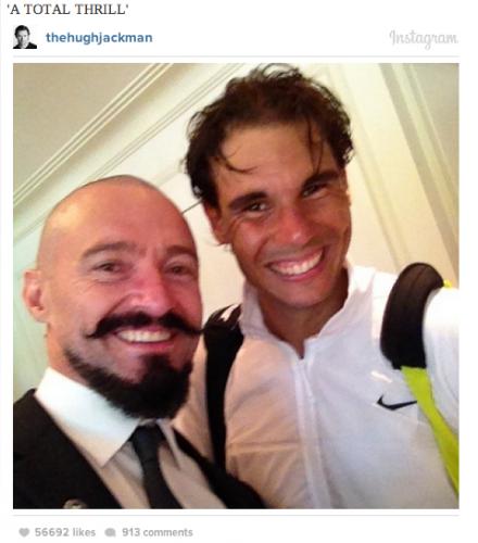 hugh jackman instagram tennis stars
