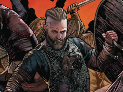 Vikings 2014 comic con comic book cover art