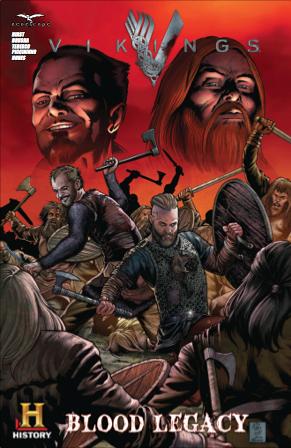 Vikings 2014 comic con comic book cover art