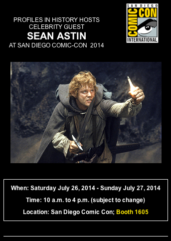 Sean Astin Comic Con Profiles In History