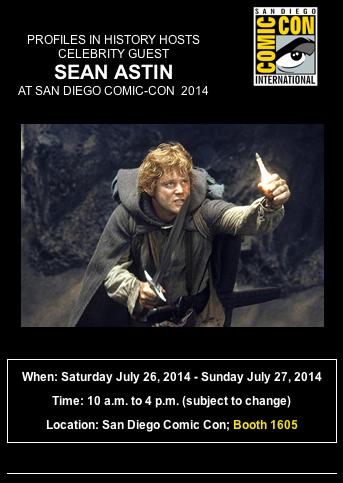 Sean Astin Comic Con Profiles In History