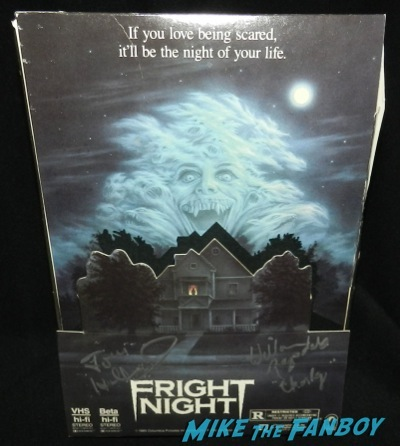 fright night counter Stand box promo mobile signed Tom Holland signing autographs fright night director now 2014  5