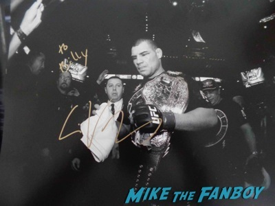 Cain UFC Fan Expo Day 1 autograph signing photos rare     7