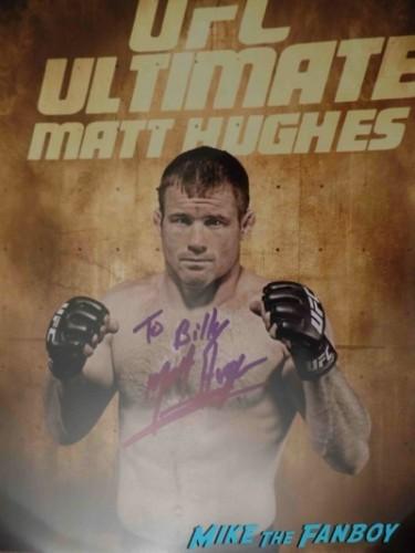 matt hughes UFC Fan Expo Day 1 autograph signing photos rare     7