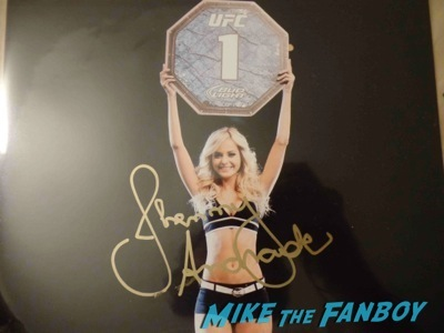 Jhenny Andrade UFC Fan Expo Day 1 autograph signing photos rare     7