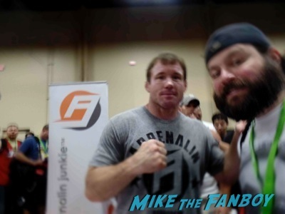 matt hughes UFC Fan Expo Day 1 autograph signing photos rare 7