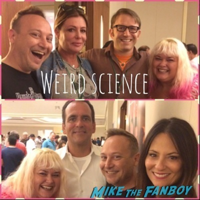 Weird science cast now 2014 signed autograph 8