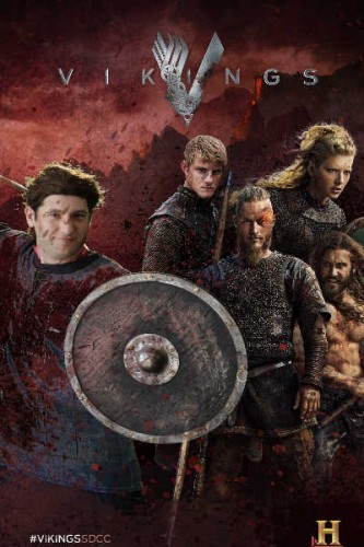 vikings mike the fanboy poster