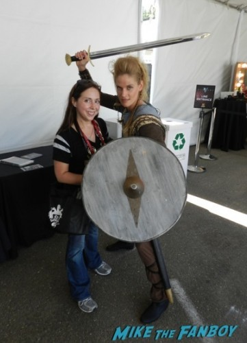 on the set with vikings SDCC 2014 hisory   1