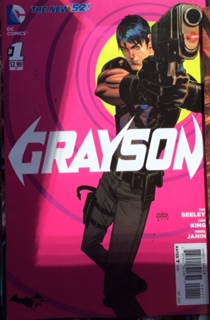grayson comic book cover rare
