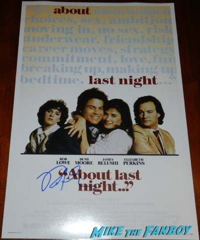 rob lowe signed autograph about last night... poster sex tape movie premiere red carpet disaster cameron diaz    32
