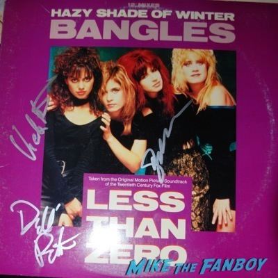 the bangles signed autograph lp suzannah hoffs  3