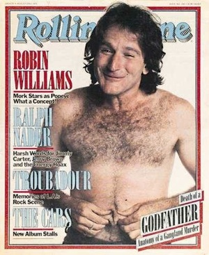 robin williams rolling stone magazine cover rare mork and minday robin williams photo