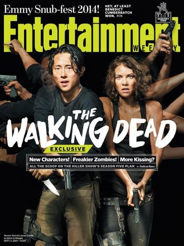 steven yuen lauren choen  The Walking Dead Norman Reedus 2014 cover