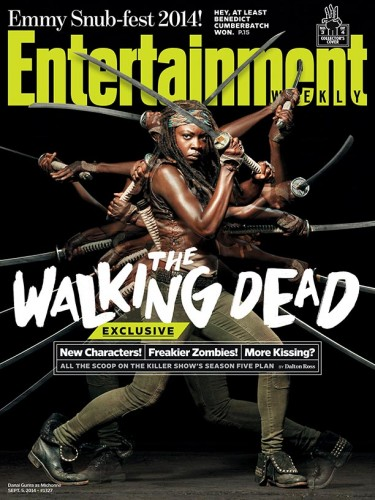 Danai GURIRA The Walking Dead Norman Reedus 2014 cover