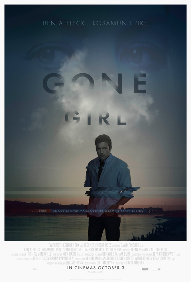 Gone Girl movie poster teaser david fincher ben affleck