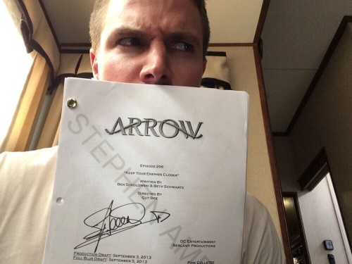 stephen amell signed arrow scripts for charity