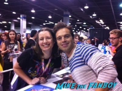 sebastian stan fan photo Chicago wizard world 2014 sebastian stan fan photo signing autographs rare 11