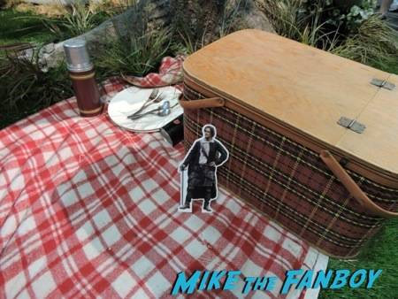 #PocketJaime relaxing on the picnic blanket at the Outlander booth
