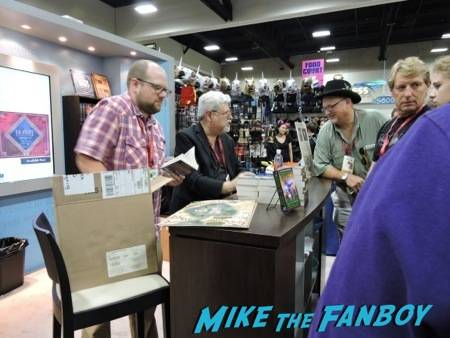 Raymond Feist signing at the HarperCollins booth