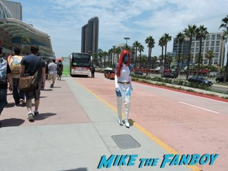 Mystique taking a stroll outside the Con