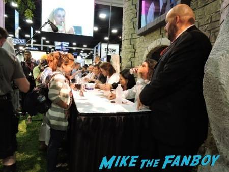 """The cast and crew of """"Outlander"""" signing for the fans"""