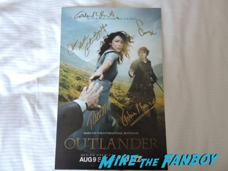 "My signed ""Outlander"" poster :D"