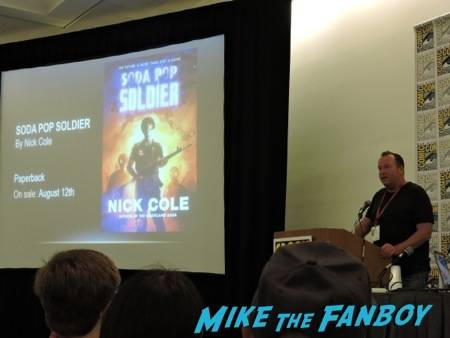 Nick Cole talking about his upcoming release at the Harper Voyager panel