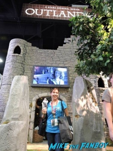 "#PocketJaime and myself at the ""Outlander"" booth"